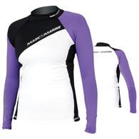 Magic Marine Energy Rash Vest - Purple LS Womens