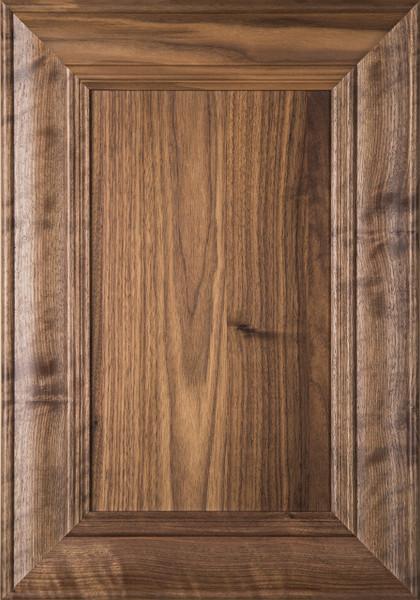 U201cBelmontu201d Walnut Flat Panel Cabinet Door In Clear Finish. U201c