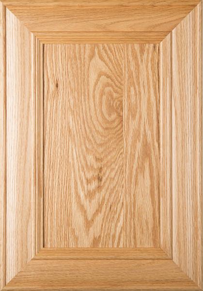 Belmont Red Oak Flat Panel Cabinet Door In Clear Finish