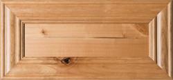 """""""Belmont"""" Unfinished Rustic Alder Flat Panel Drawer Front"""