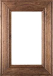 """Linville"" Walnut Glass Panel Cabinet Door Image"