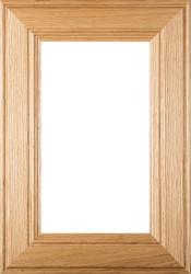"""Linville"" Red Oak GLASS Panel Cabinet Door"