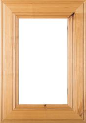 """""""Linville"""" Rustic Alder GLASS Panel Cabinet Door"""