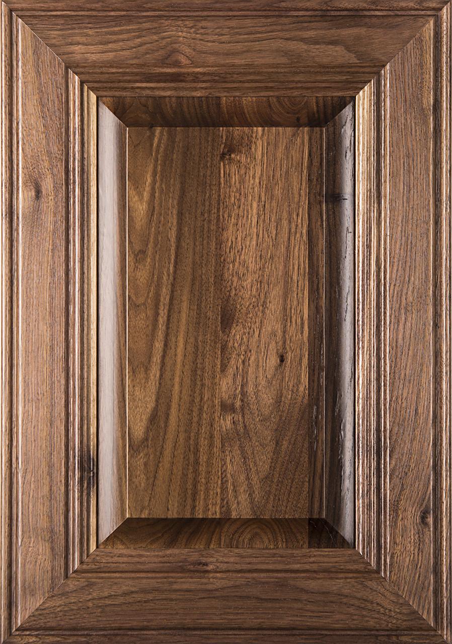 Linville walnut raised panel cabinet door image