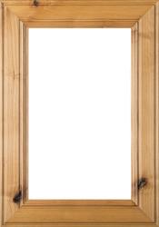 """2.38 """"Linville"""" Rustic Alder Glass Panel Cabinet Door"""