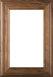 """Arden"" 2.38 Walnut Glass Panel Cabinet Door in Clear Finish"