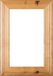"""Arden"" 2.38 Rustic Alder Glass Panel Cabinet Door in Clear Finish"