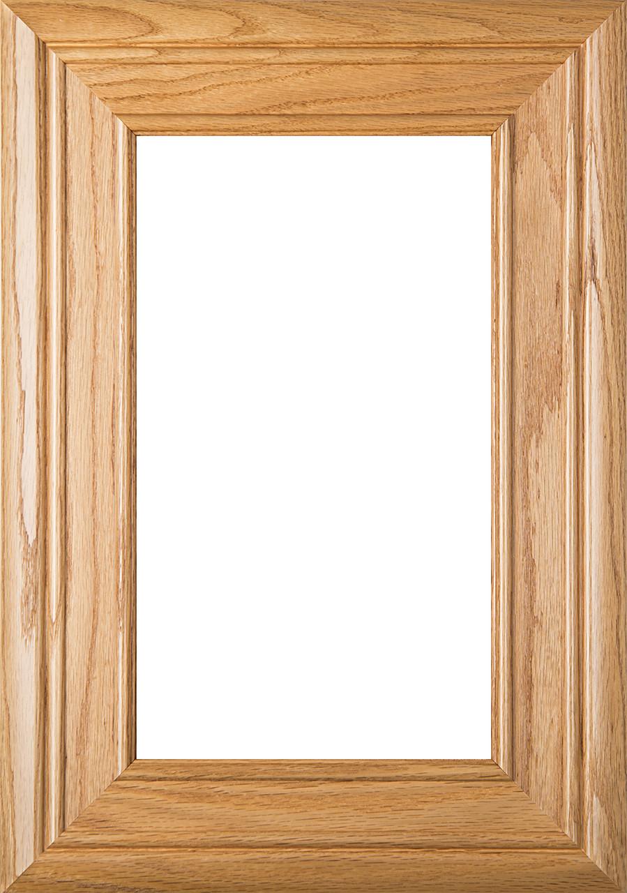 Arden Red Oak Glass Panel Cabinet Door