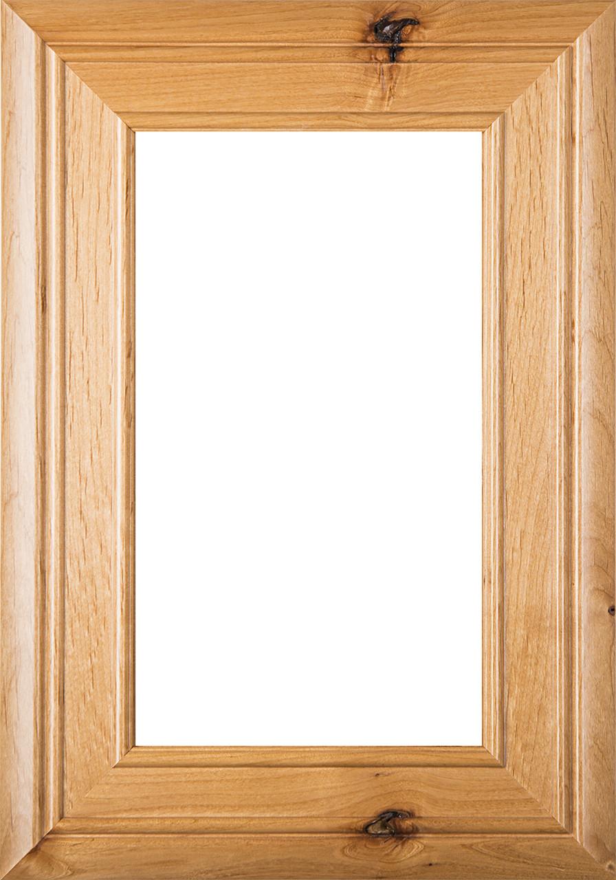 Arden Rustic Alder Glass Panel Cabinet Door Finished
