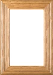 """""""Arden"""" 2.38 Red Oak Glass Panel Cabinet Door"""