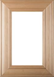 """Belmont"" Superior Alder Glass Panel Cabinet Door in Clear Finish"