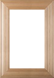 """Belmont"" 2.38s Superior Alder Glass Panel Cabinet Door in Clear Finish"