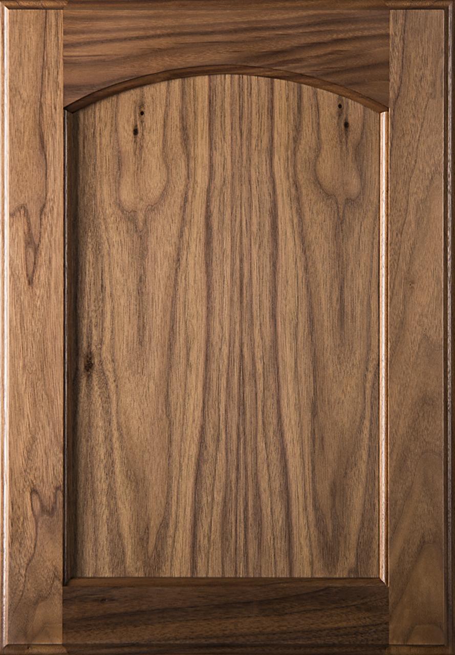 Eyebrow Arch Walnut Cabinet Doors Flat Panel W Clear Finish