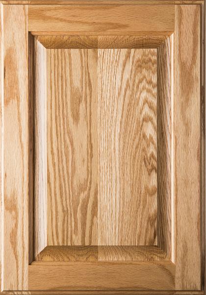 Square Raised Panel Red Oak Cabinet Door