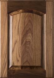 Unfinished  Eyebrow Raised Panel Walnut Cabinet Door