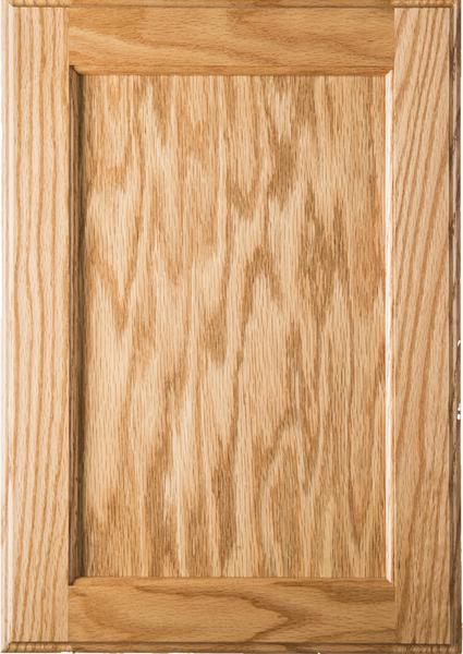Shaker Style Unfinished Red Oak Kitchen Cabinet Door