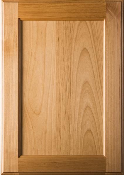 Unfinished Superior Alder Cabinet Door With Flat Panel