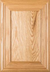 """""""Arden"""" Red Oak Flat Panel Cabinet Door"""