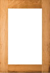Unfinished Cherry Shaker GLASS Panel Door