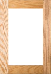Unfinished Red Oak Shaker GLASS Panel Door