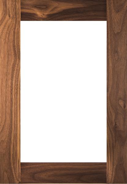 Unfinished Walnut Shaker GLASS Panel Door
