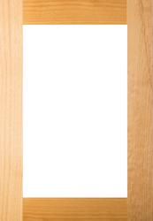 Unfinished Superior Alder Shaker GLASS Panel Door