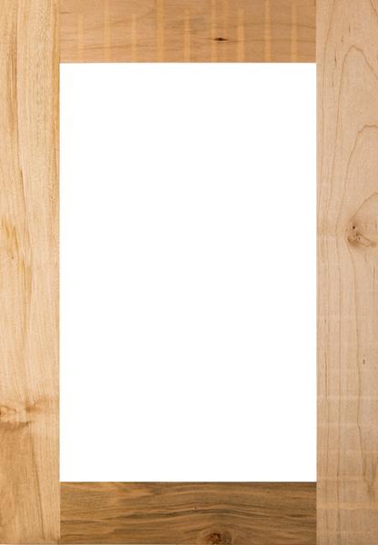 Shaker Glass Panel Cabinet Door Maple Unfinished Lenoir Nc