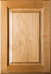 Square Raised Panel Superior Alder Cabinet Door with Clear Finish