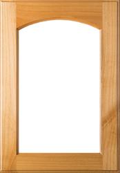 Unfinished Eyebrow Arch Glass Superior Alder Door