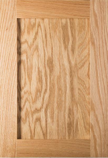 Shaker Red Oak Kitchen Cabinet Door In Clear Finish