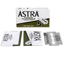 Astra Superior Platinum Double Edge Safety Razor Blades 5 ct.