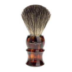 Edwin Jagger Faux Tortoise Black Best Badger Brush