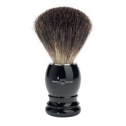 Edwin Jagger Ebony Black Best Badger Brush Classic Round