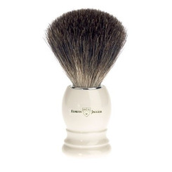 Edwin Jagger Ivory Black Best Badger Brush Classic Round