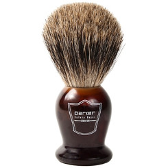 Parker Tortoise Handle Pure Badger Shaving Brush