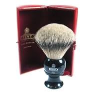Kent Shaving Brush Pure Silver-Tipped Badger Brush BLK8 Large