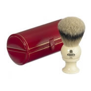 Kent Shaving Brush Pure Silver-Tipped Badger Brush BK8 Large