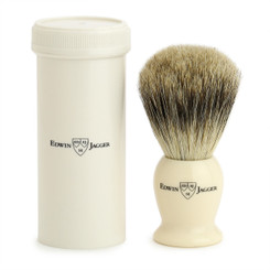 Edwin Jagger Ivory Travel Shaving Brush, Best Badger