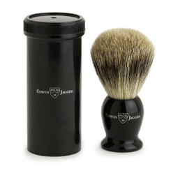 Edwin Jagger Black Travel Shaving Brush Best Badger