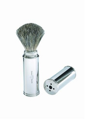 Edwin Jagger Travel Shaving Brush Best Badger Chrome