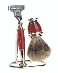 Edwin Jagger Luxury Briar Wood Shaving Set