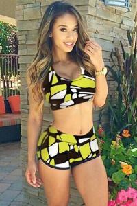 BrytCouture Patchwork Print Two-piece Bikini Beachwear Set