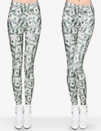 Dollar Sign Celebrity Styled 3D Print Leggings