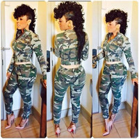 BrytCouture Limited Edition Military Camo Two-piece Jumpsuit