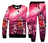 Jordan 23 3D Print Basketball Jogger and Sweatshirt Set