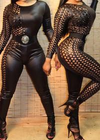 BrytCouture Black Long Sleevess Zip Closure Jumpsuit
