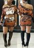 BrytCouture Euramerican Bateau Neck Half Sleeves Two-piece Skirt Set