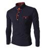 Cotton Dot Print Men T Shirts with Button