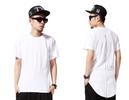 Men Hip Hop Extended Tee Shirt With Zipper White