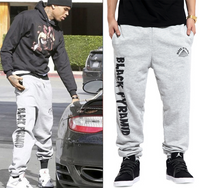 Chris Brown Black Pyramid Sweatpants